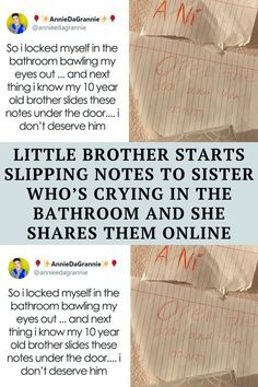 Little Brother Starts Slipping Notes To Sister Who's Crying In The Bathroom And She Shares Them Online Funny Corny Jokes, Punny Puns, Short Jokes Funny, Funny Disney Jokes, Sarcastic Humor, Funny Facts, Cheesy Jokes, Funny Humor, Extremely Funny Jokes