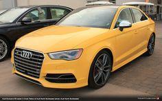 Audi Exclusive Imola Yellow S3 Sedan (photo: Brian McCauley, Audi North Scottsdale)