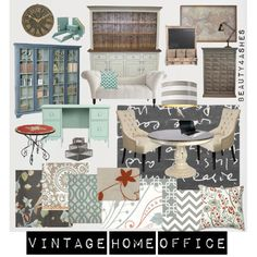 """Vintage Home Office"" by ellie1005 on Polyvore"