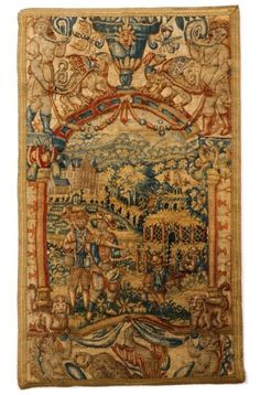 Brussels Figural Tapestry Panel, Late 16th Century : Lot 359. Estimated $4,000-$6,000