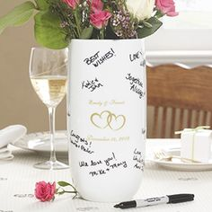 Joined Hearts Personalized Signature Wedding Vase--Gift ideas for every occasion...