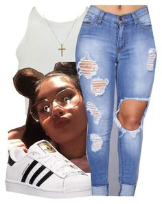 """""""4/26/16"""" by lookatimani ❤ liked on Polyvore featuring adidas"""