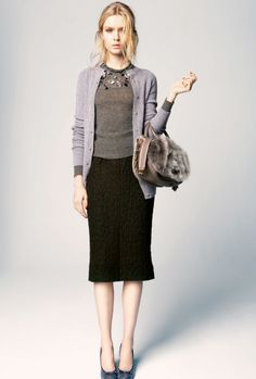 Classic cardigan and pencil skirt - Nina Ricci