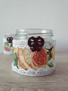 This item is unavailable Jar Candle, Candle Holders, Candles, Decoupage, Mason Jars, My Etsy Shop, Unique Jewelry, Handmade Gifts, Check