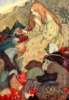 'Goblin Market'' from Poems by Christina Rossetti' illustrated by Florence Harrison. Published 1910 by Blackie & Son Limited.