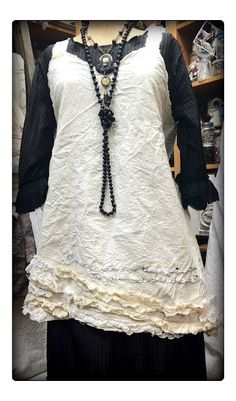 Ruth Rae's delicious dress - black ,white and beads!  Love it all!  Want it all!