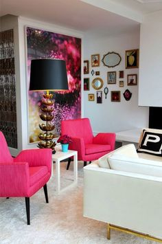 I would replace the pink with another bold color, but love this!!! Jonathan Adler for the Parker residence, New York
