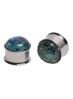 Steel Abalone Dome Plug 2 Pack | Hot Topic