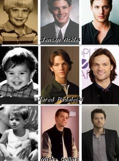 From boy to man: Jensen Ackles, Jared Padalecki and Misha Collins.