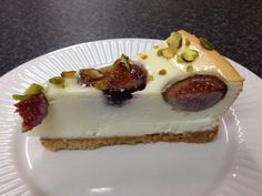 Fig and pistachio cheesecake