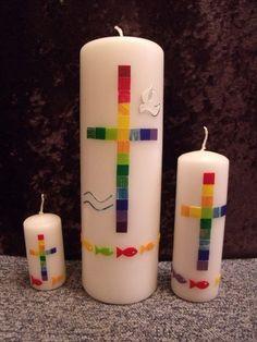 Taufkerzen - Taufkerze 05b - ein Designerstück von Kerzenstudio bei DaWanda