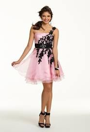 Baby pink dress with black over the shoulder strap