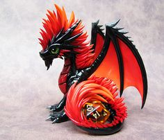 Firey Mohawk Dragon by DragonsAndBeasties.deviantart.com on @deviantART ... Think this is got to be the most awesome dragon