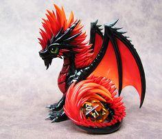Firey Mohawk Dragon by DragonsAndBeasties on deviantART