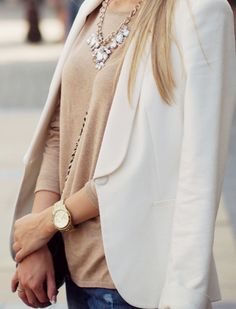 a classic neutral outfit