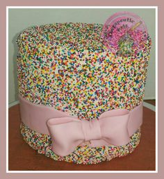 Sprinkles birthday cake.   Therapeutic Arts.