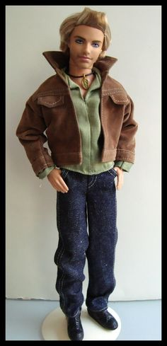 BARBIE/ KEN clothes COMPLETE W/suede jacket,shirt,jeans,necklace,shoes! NEW! | eBay