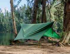 Dual-Use Camping Equipment - The Apex Camping Shelter is Either a Hammock or a Tent to Suit Needs (GALLERY)