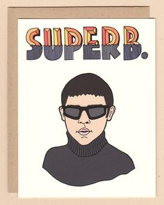 SUPERB all purpose card featuring Lucas from Empire Records