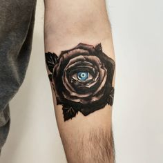 Realism Tattoo, Rose Tattoos, Ink, Eyes, Black, Black People, All Black, Bud