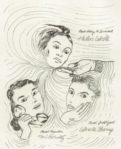 "Senior favorites in the 1952 ""Sketch Book"" yearbook of Edgewood Park high school in Briarcliff Manor, New York.  #BriarcliffManor #EdgewoodPark #yearbook #TheSketchBook #1952"