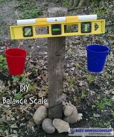 DIY Balance Scale by suzyhomeschooler #Kids #Science #Balance