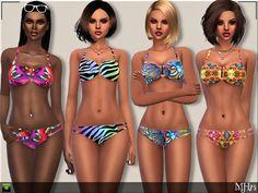 Boohoo Bikinis by Margeh-75 at TSR via Sims 4 Updates