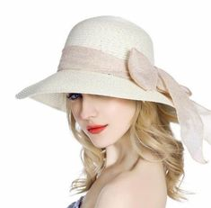 8fb79e5686d50 Cheap bow straw sun hat for girls summer uv package beach hats