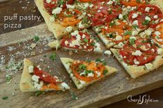 Tomato and goat cheese puff pastry pizza – CherylStyle