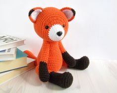 PATTERN: Red Fox - Amigurumi fox pattern - Crochet tutorial with photos (EN-051)