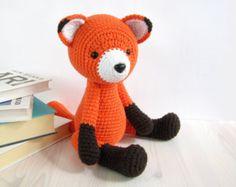 PATTERN: Red Fox - Amigurumi fox pattern - Crochet tutorial with photos (EN-051)