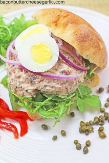 Bacon, Butter, Cheese & Garlic: Fancy-Pants Tuna...Provencal Tuna Salad Sandwich