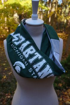 Recycled tshirt Michigan State University infinity by tenthreads