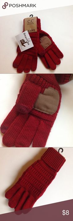 C.C. Exclusives Smarttouch Gloves Solid knit gloves with Smarttouch c.c. exclusives Accessories Gloves & Mittens