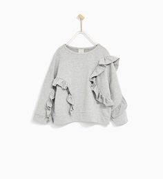 Image 1 of FRILLED SWEATSHIRT from Zara