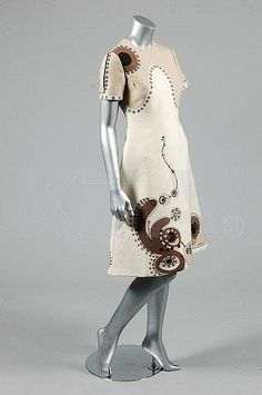 Louis Feraud abstract printed wool jersey dress, circa 1970