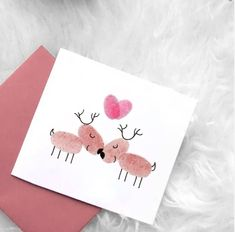 A Christmas postcard with effect - Oscar Wallin Diy Christmas Cards, Diy Cards, More Fun, Reindeer, Birthday Cards, Beautiful Pictures, Card Making, Xmas, Presents