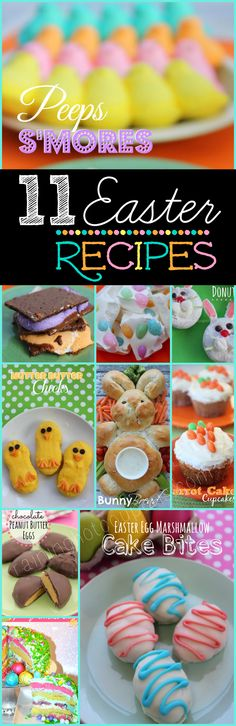 11 Easter Dessert Recipes---Easter has to be my favorite Holliday and time of year! Holiday Desserts, Holiday Treats, Holiday Recipes, Easter Desserts, Holiday Cakes, Holiday Decorations, Holiday Fun, Festive, Hoppy Easter