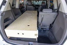 Camping Box, Minivan Camping, Camping Ideas, Odyssey Van, Honda Odyssey, Van Conversion Guide, Minivan Camper Conversion, Camper Beds, Camper Van Life