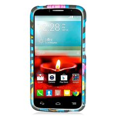Alcatel One Touch Fierce 2/7040T Glossy 2D Colorful Fireworks 1 Protective Case #PH-PIACTL7040TG2D170