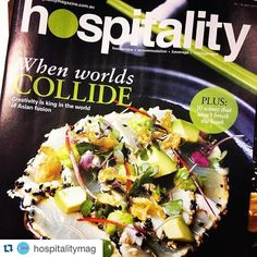 #Gingerboy #tataki - looking pretty tasty on the front cover of @hospitalitymag!  #repost  Asian fusion truffles food wastage and catering to those with dietary requirements - it's all in our July issue! Thanks to all involved  by gingerboymelb