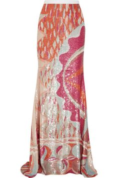 Uk Emilio Pucci Gold Sequins Silk Tulle Dress oh this Pucci skirt is divine
