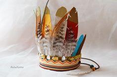 feather headband, boys birthday crown, boho feather crown, boys cake smash, birthday boy,indian headband, felt feather crown, feather crown, by BebeKoma on Etsy https://www.etsy.com/listing/277042486/feather-headband-boys-birthday-crown