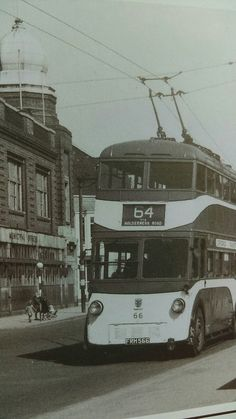Service 64. Paragon street _Ings road via Holderness road. Registry office in the background. Hull.