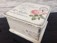 Jewerly box-keepsake box-decoupage box-black and white box-ballerina box Cajas Shabby Chic, Shabby Chic Boxes, Vintage Rosen, Vintage Box, Vintage Style, Decoupage Box, Decoupage Vintage, Wooden Jewelry Boxes, Wooden Boxes