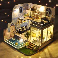 Deco Cool, Casas The Sims 4, Best Tiny House, Tiny House Living, Tiny House Design, Miniature Houses, House Layouts, Diy Dollhouse, Miniature Dollhouse