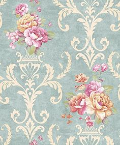 DR3035-Non Woven Vintage Flower Wallpaper for Home bedroom WallPaper,57square feets/roll