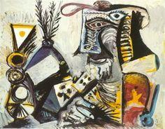 Pablo Picasso. Man cards, 1971