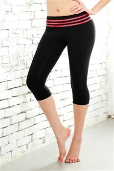 Skinny Wonder Black Yoga Capris by Balini Sports. Pinned by Karmic Fit | #yoga #yogacapris #capris #leggings #yogaleggings #hotyoga #activewear