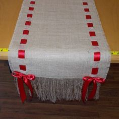 Burlap Runner with Ribbon